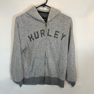 Hurley Grey Womens Large Full ZIP Sweatshirt